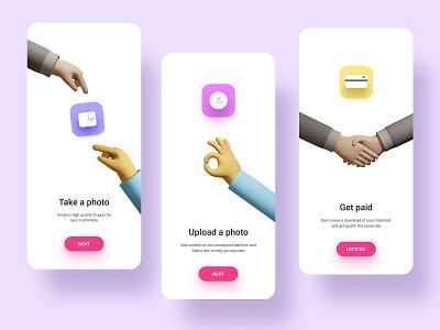Easy Image share app flatdesign color 100 day challenge dailyuichallenge prototype animation 3d hand 3d art logo illustration typography figma ui  ux ux ui creative design