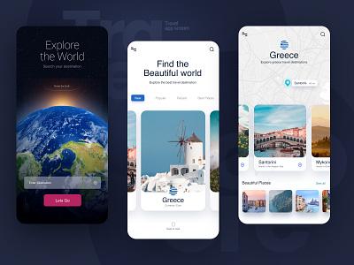 Travel app screen unsplash traveling creative design dailyuichallenge 100daychallenge logo branding concept figma ui  ux ux creative color design travel agency travel app