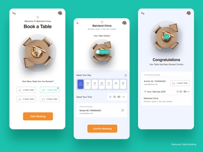 Restaurant Table booking branding booking ui 100 day challenge appdesign tablebooking interaction design brand identity creative figma ux concept clean ui  ux restaurant app booking system