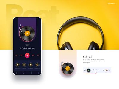 Music player UI minimal ux graphicdesign dailyuichallenge 100daychallenge music app sound clean figma ui  ux ui design music app music player