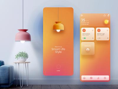 Smart Home App UI design app mobile app smartwatch smart home app modern ui design glassmorphism creative figma concept ui ux ui  ux smarthome