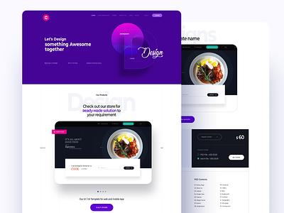 Creative Agency Website color product designs branding resturent concept design creative ui website design creative agency