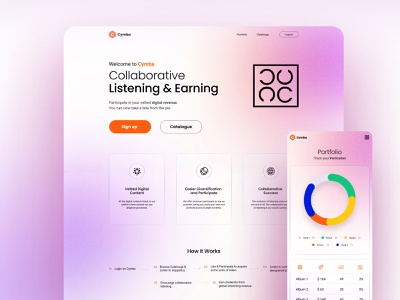 Creative agency Landing page clean design simple branding design creative agency color concept ui  ux clean music graphic design