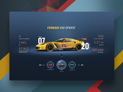 Sports Car UI Interface