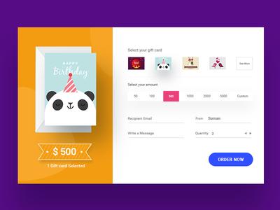 Gift Card Desktop UI