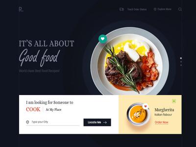 Food Web UI Card Free PSD