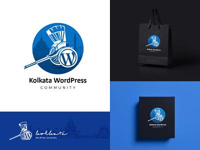 Kolkata WP logo design branding creative vector typogaphy india logodesignersclub brand identity colors illustraion concept design logo