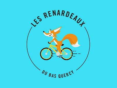 Fox O_o ? club logo happy yellow bike fox