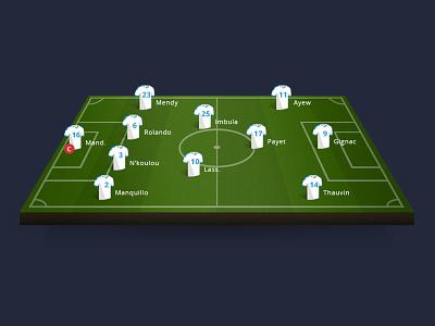 Football gaming stadium clean app illustrations marseille om gaming football
