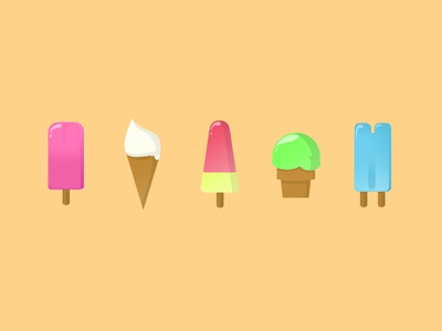 Ice cream... !!! color flat sun sea illustration cream ice