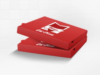 Boîte de Pizza icone icon pizza box boite logo illustrator