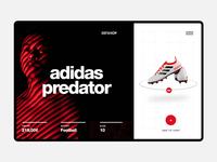Adidas Predator UI Concept