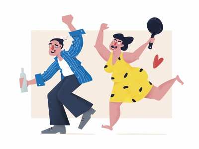 Simple love alcohol funny faces valentine day huliganio team huliganio love story simple angry run relationships couple family man woman emotions clothes drawing charachter illustration