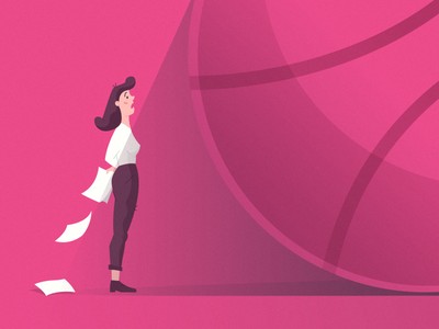 Hello Dribbble World shadow first shot face drawing paper dribbble hair pink ball amazing icon emotions start shot girl illustrator illustration hello world hello hello dribbble