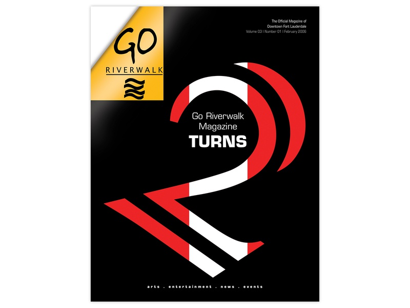 Go Riverwalk Magazine Cover, Second Anniversary