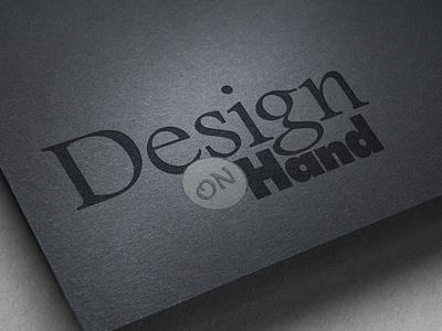 Design On Hand Logo Identity identity design graphic design logo design logo graphic-design graphicdesign branding design typography type