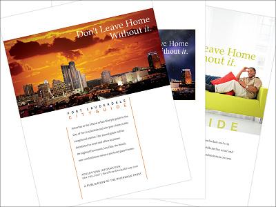 Fort Lauderdale City Guide Ad, Go Riverwalk Magazine illustrator magazine design print design graphic design graphic-design graphicdesign design typography type