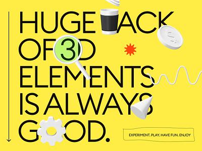 Kukla 3d kit color palette feature layout landing kit icons blender 3d typography