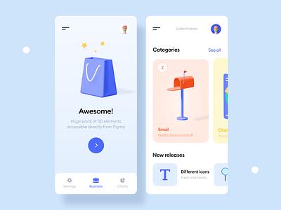 Kukla 3d icon kit gradient cards trending minimal mobile ui blender 3d icon 3d app illustration mobile