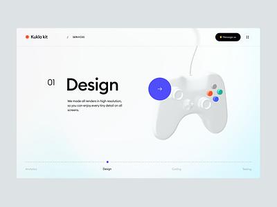 Kukla 3d kit (Slider) 3d icon trending gradient slider minimal ux design ui blender 3d illustration 3d