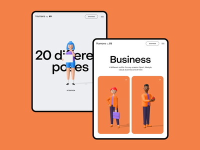3d character kit ipad transition animation dribbbleisdead mobile typography ux ui horizontal scroll cards ui ipad color palette illustration 3d character 3d illustration 3d