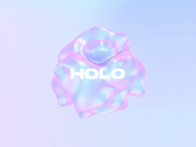 3D FLUID SHAPES liquid blob gradient holographic 3d abstract typogaphy motion product design trend web design presentation animation 3d blender ui abstract fluid