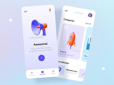 Kukla 3d icon kit illustration app 3d art 3d icon blender mobile mobile ui trending cards gradient