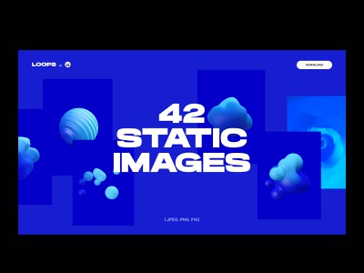 Site of the day nomination bubble landing header gradient desktop abstract 3d