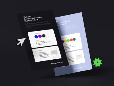 security kit customisation panels security 3d icon illustration color scheme styles panel customisation 3d