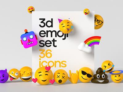 3d emoji illustrations 3d emoji illustration web design 3d illustration 3ddesign scene art cinema 4d blender render 3d character 3d icon emoji 3d