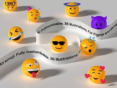3d emoji illustration 3d text animation type text scene art render cinema 4d typography blender 3d character 3d illustration 3d emoji 3d
