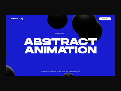 Abstract 3d animation typography animation product blue desktop motion particles liquid blender animated website ui abstract 3d