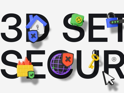 Security 3d icon website ui c4d figma blender protection password security privacy encryption data encryption safe firewall typography 3d illustration 3d icon 3d