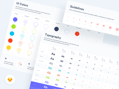 Style guide table grid clean app minimal ui kit guide line typography fonts colors style guide