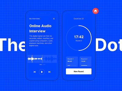 Wireframe kit blue audio player audio excercise prototype app interface ui kit wireframe