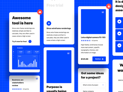 Prototyping tool landing ui kits prototype features mobile ecommerce wireframe ui kit