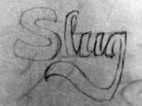 Slug hand lettering