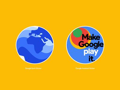 Google Circle Stickers design vector colorado typography denver branding