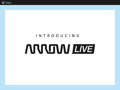 Arrow Live the future blue video travis bartlett the world usa travel colorado denver branding