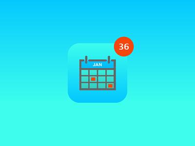 Calendar Notified travis bartlett colorado denver buys red january blue icon illustration