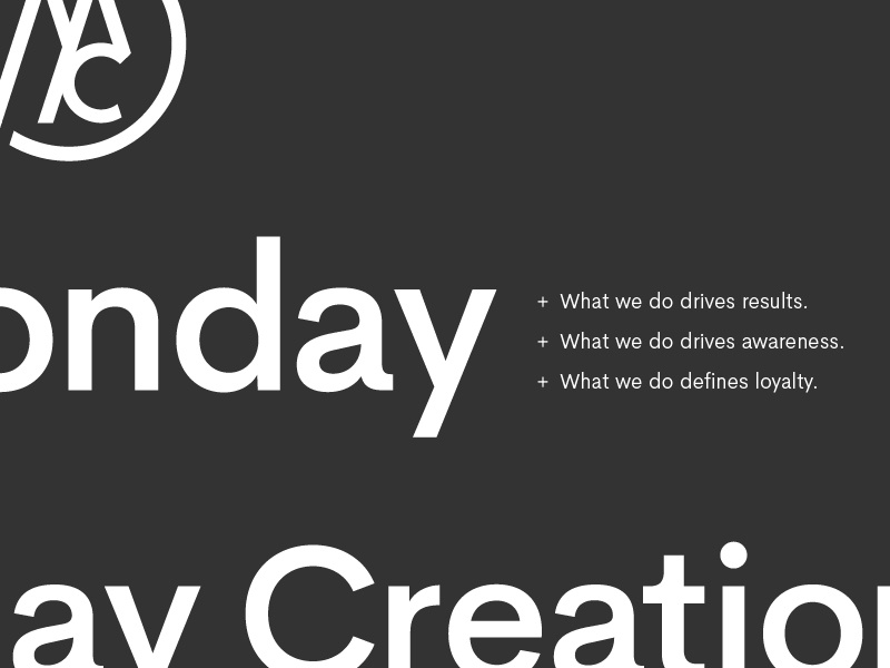MC Re-brand Type Specimen iowa print vector icon simple typography colorado identity agency freelance branding
