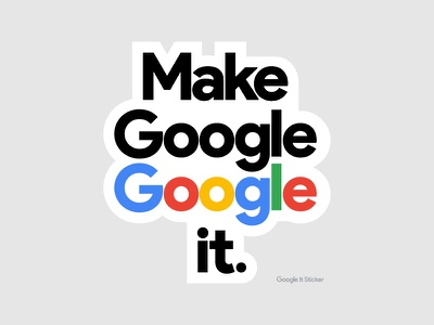 Sharpen.design Google Stickers travis bartlett g icon tech silicon valley simple design denver colorado branding bartlett creative sticker design google