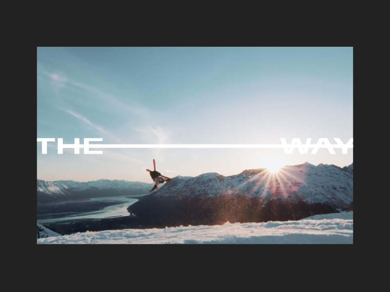 The Way art direction skiing design colorado denver brand design travis bartlett bartlett creative typography video design branding