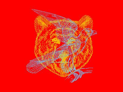 Bird Bear art direction bright color colorado denver apparel design travis bartlett bartlett creative color illustration design branding