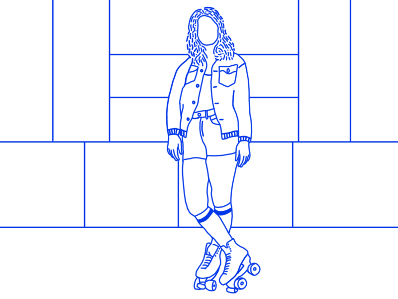 Roller Skate fun motion animation illustrator illustration