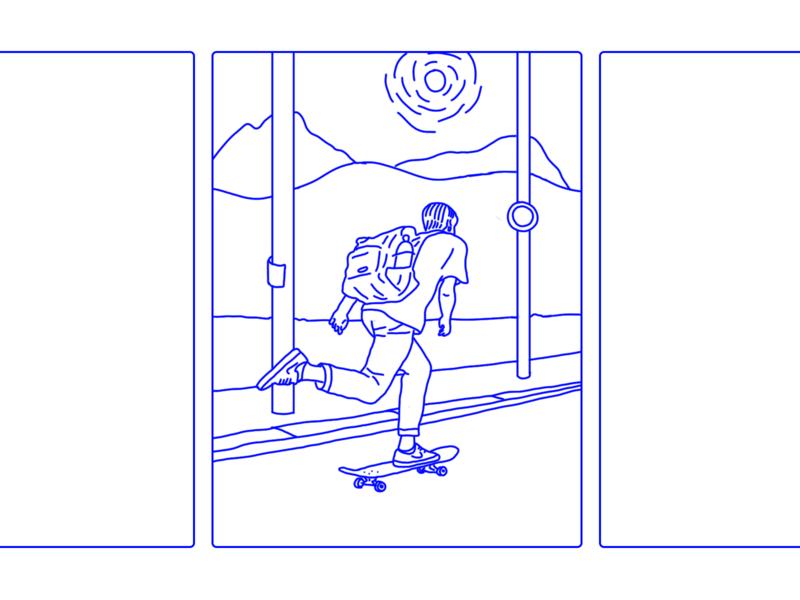 Less Transit fun animation illustrator design illustration quarantine