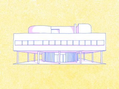 Villa Savoye lecorbusier architect architecture photoshop illustrator illustration