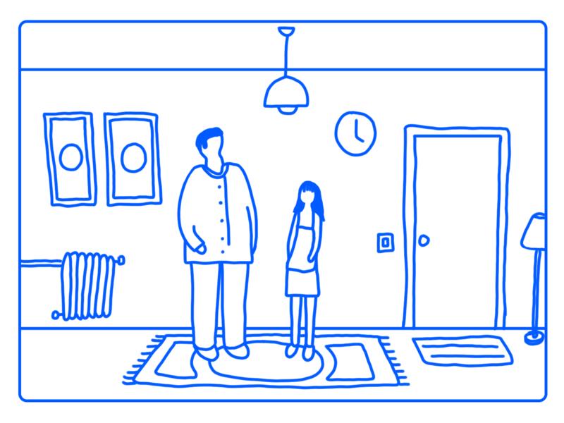 Date Night animation design home fun illustrator illustration friends family postcard date night