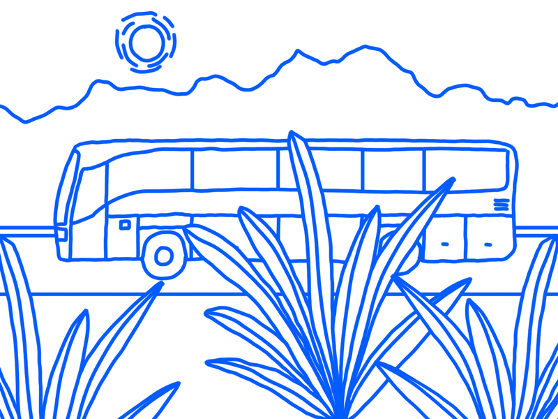 Bus Trip illustration design animation illustrator vacation trip business