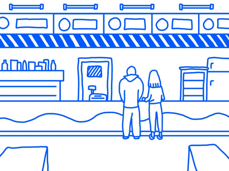 Burger House fun motion animation illustrator design illustration house burger